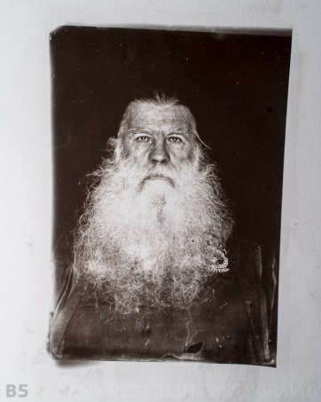 Carbon print on glass from my own wet plate collodion negative