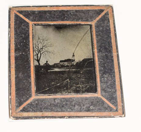 Original glass plate done by Janez Puhar