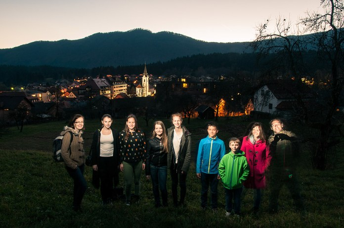 A group photo above our town of Dolenjske Toplice