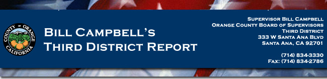 Photo of Supervisor Campbell, Bill Campbell Supervisor 3rd District, Newsletter,