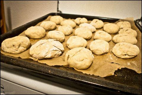 Brötchen frisch aus dem Ofen.