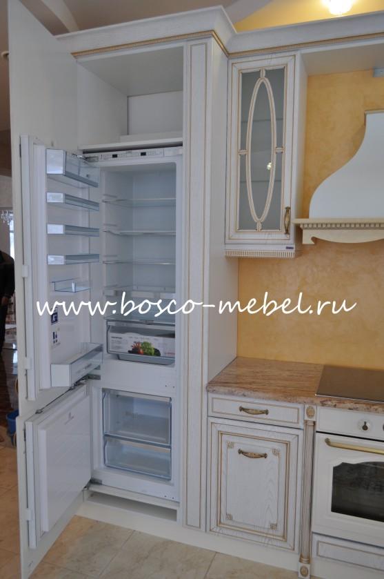 Встроенный холодильник Bosch в кухонном гарнитуре   Bosco ...