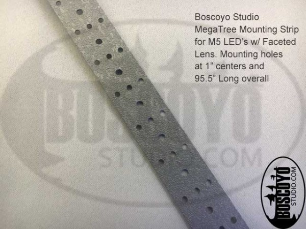 LED Mounting Strip for M5 Faceted Lens
