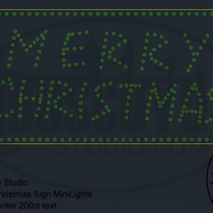 Merry Christmas Sign Minilights