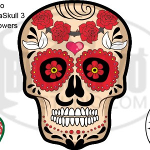 DayCor™ HiRes ChromaSkull 3 Red Flowers