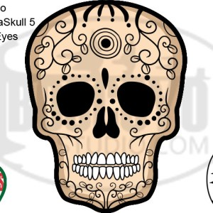 DayCor™ HiRes ChromaSkull 5 Black Eyes