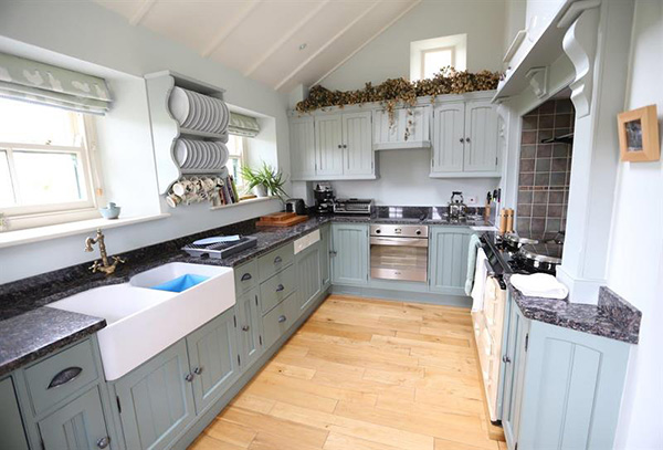 Kitchen area - Boscrowan Farm - Family Friendly Award Winning Self Catering Holiday Cottages
