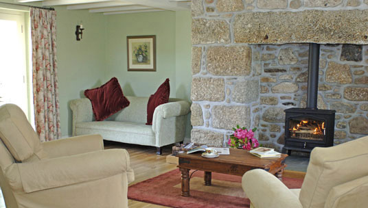 Lounge area - Boscrowan Farm - Family Friendly Award Winning Self Catering Holiday Cottages