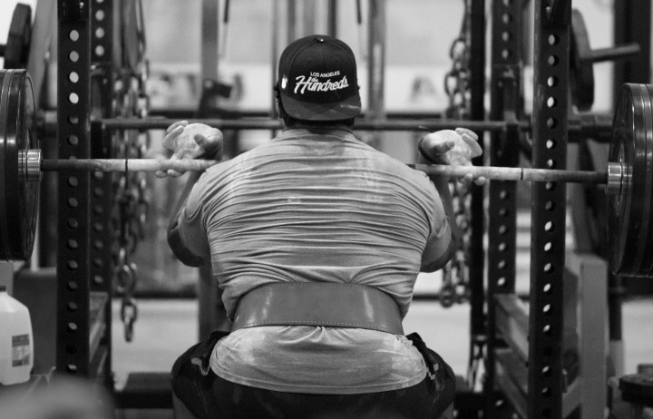 Weightlifting in Black & White