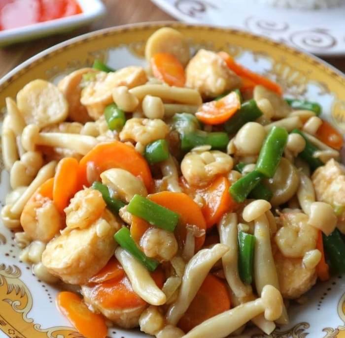 Resep Tumis Aneka Jamur dan Sayuran