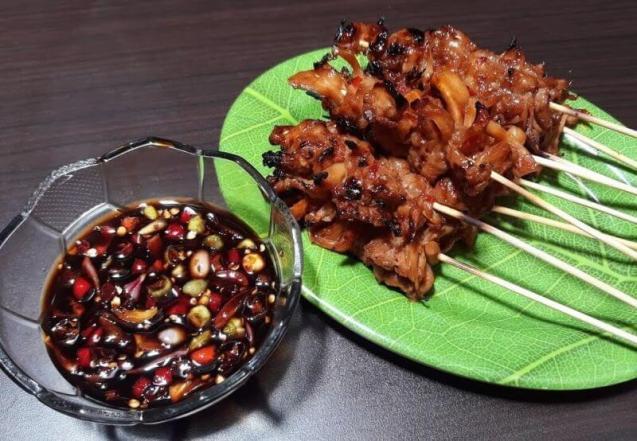Resep Sate Jamur Tiram Bumbu Kecap