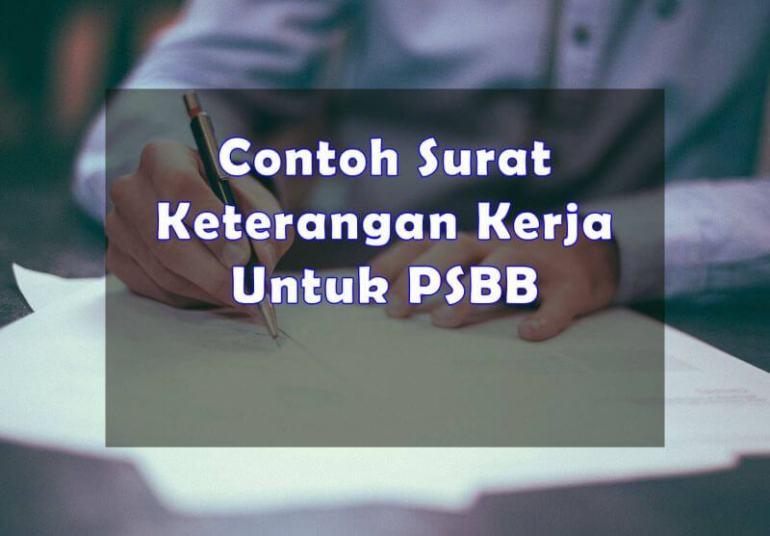 Format Contoh Surat Keterangan Kerja Untuk PSBB - Bosmeal.com
