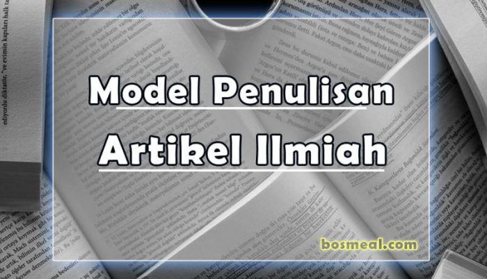 Model Penulisan Contoh Artikel Ilmiah - Bosmeal.com