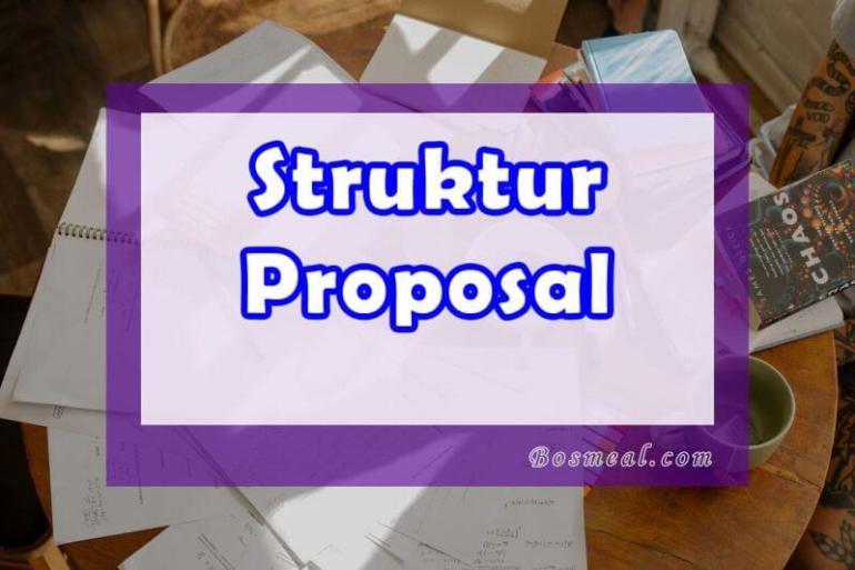 Format Struktur Proposal Kegiatan - Bosmeal.com