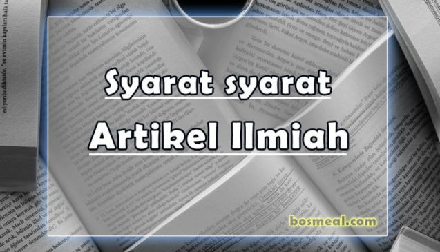 Syarat-syarat Contoh Artikel Ilmiah Sederhana - bosmeal.com