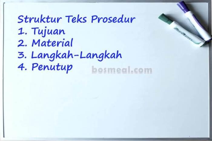 Contoh Teks Prosedur Struktur Teks Prosedur
