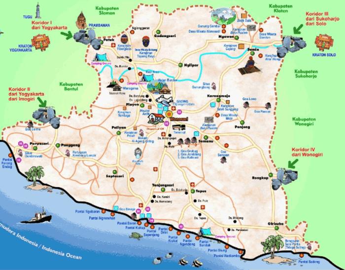 Rute Lokasi Pantai Nglambor dari Solo dan Jogja