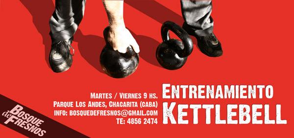 Entrenamiento Kettlebell en Parque Los Andes, Chacarita, ciudad de buenos aires