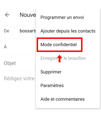 Gmail-selectionner-Mode-confidentiel-sur-telephone-android-smartphone-Boss-Arts