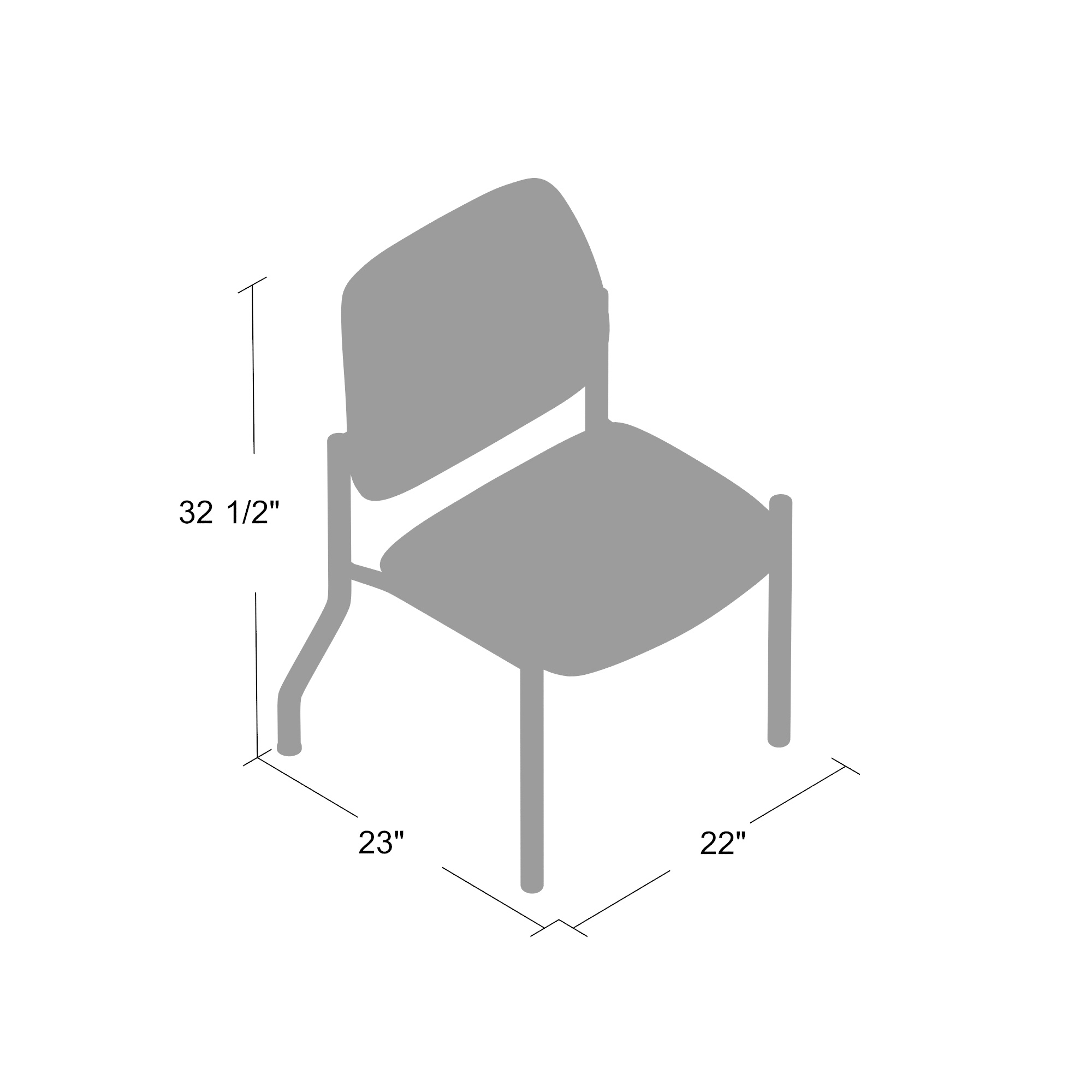 Boss Mid Back Armless Guest Chair 300 Lb Capacity Antimicrobial Vinyl