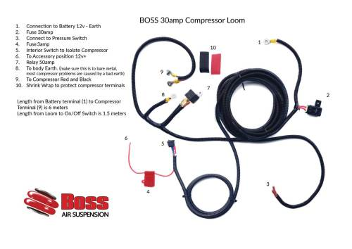 12v Compressor Wiring Loom