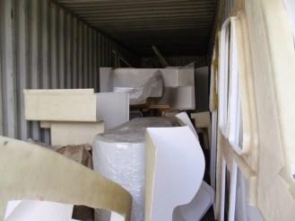 Interior fibreglass furniture