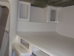 Cupboards ready for trim