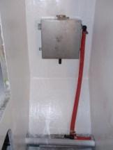 Heater unit in double cabin cupboard