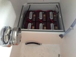 Battery box designed, built & in!