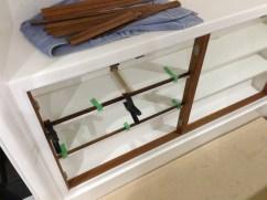 Shelf trims going on