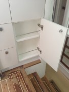 Extra rails in galley cupboards