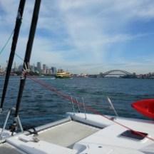 Sailing up Sydney Harbour