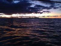 Dusk, approaching Cape Byron.