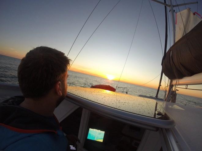 Sunrise departure from Bundaberg