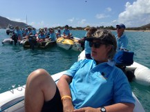 Hands Across The Blue ... all dinghies gathering.