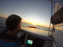 Bundaberg ... actually sunrise. With Tim on board.