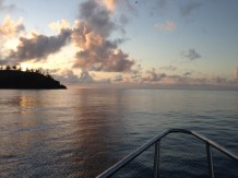 Early morning departure from Keswick Island.