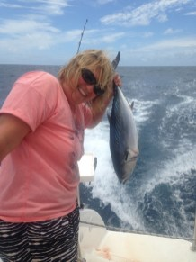 Another boody tuna! We are over the tuna. Always looking for mackerel now.