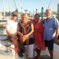 Steve & Leanne on board Bossa Nova before a visit to local pub.