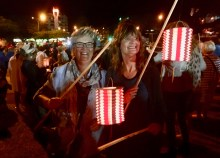 We joined in the Bastille Day celebrations with the lantern march