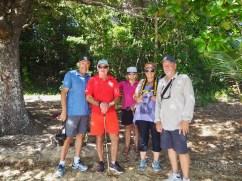 Our walkers ... Steve, Hugh, Juliana, Leanne & Neville