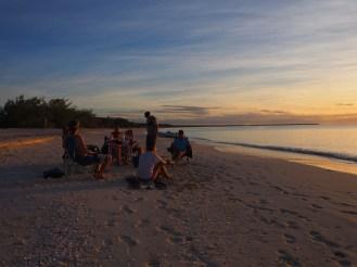 Sundowners on the beach ... stunning sunset!