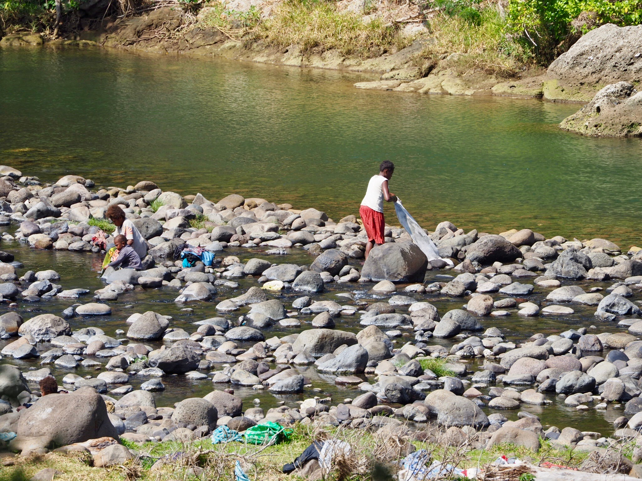 Daily washing in the river