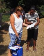 Leanne donating the Women Who Sail Australia donations