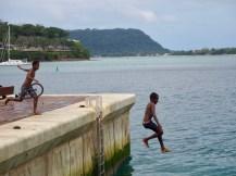 Local kids having fun