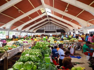 This market is so colourful ... the people & the veggies!