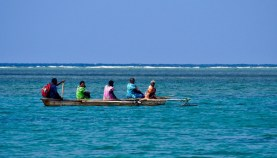 The ladies off to church at a neighbouring island