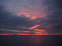 A fiery sunset at Cape Upstart.