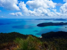 Looking west, boats anchored in Cid Harbour below ... from Whitsunday Peak