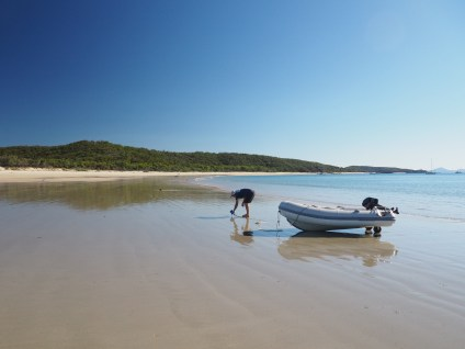 Leeke's Beach ... a very low tide!